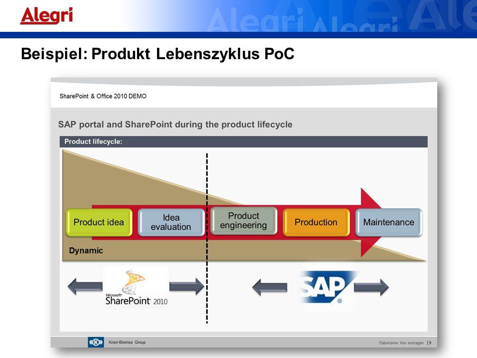 Beispiel: Produkt Lebenszyklus PoC