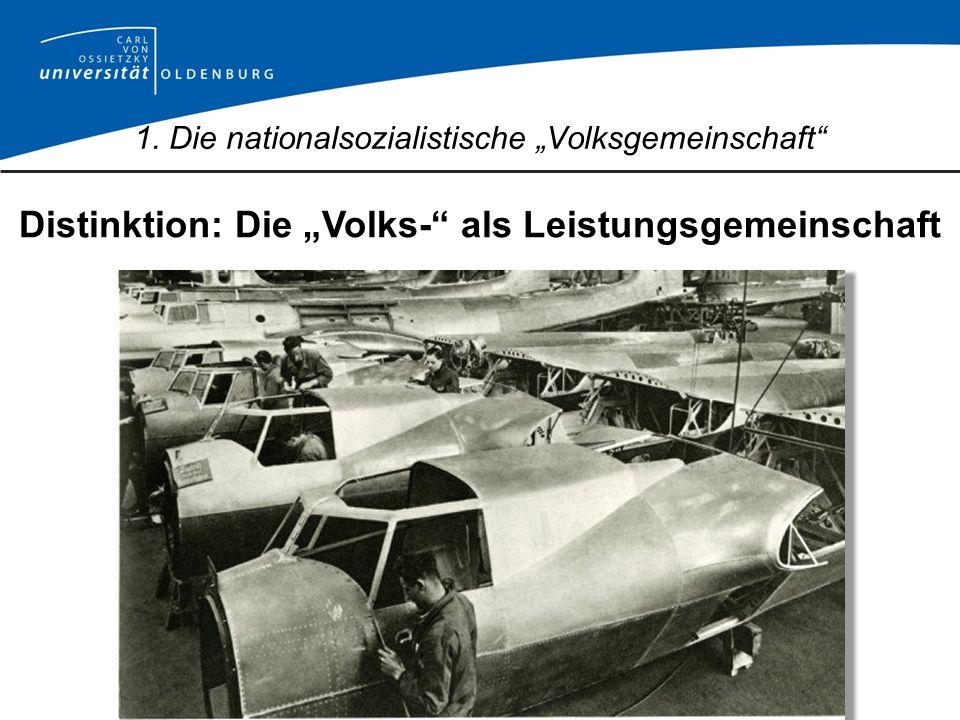 Distinktion: Die Volks- als Leistungsgemeinschaft 1. Die nationalsozialistische Volksgemeinschaft