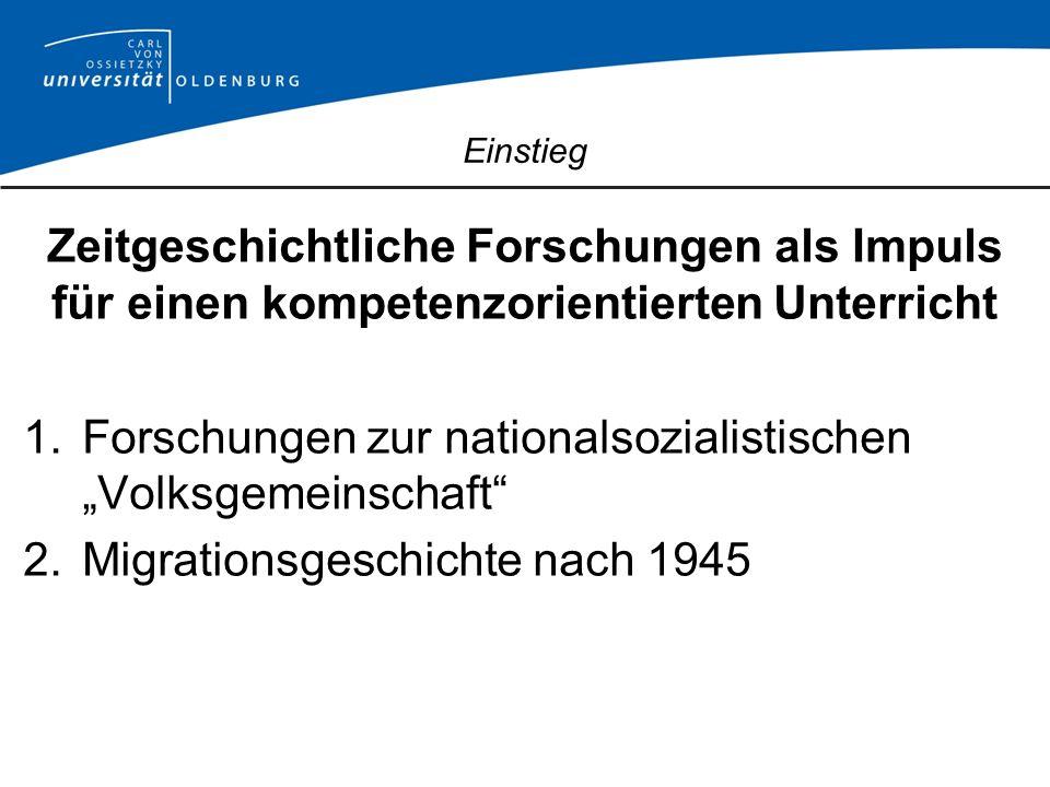 Volksgemeinschaft als soziale Praxis: Impulse für den Unterricht 1.