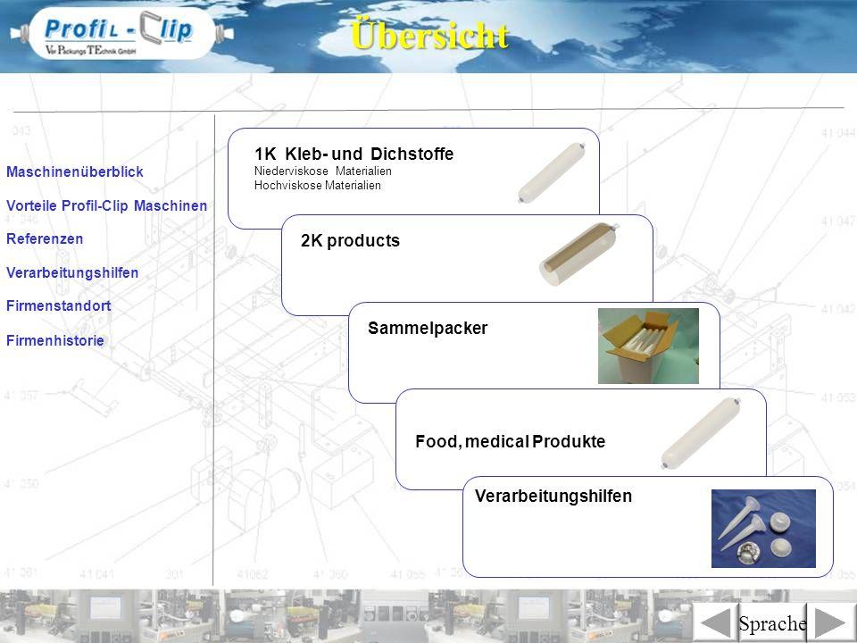 1K Kleb- und Dichstoffe Niederviskose Materialien Hochviskose Materialien Maschinenüberblick Firmenstandort Verarbeitungshilfen Referenzen Firmenhisto