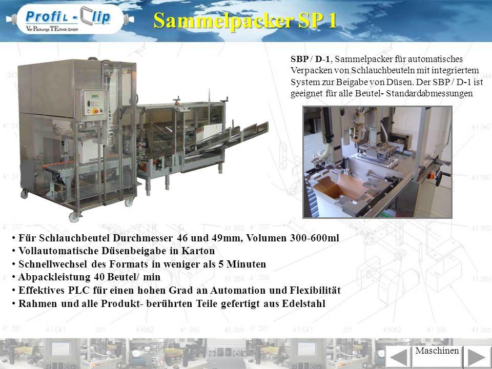 Für Schlauchbeutel Durchmesser 46 und 49mm, Volumen 300-600ml Vollautomatische Düsenbeigabe in Karton Schnellwechsel des Formats in weniger als 5 Minu