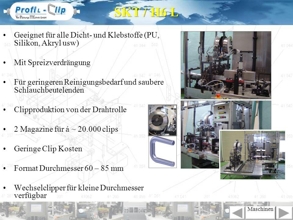 Mechanische Übersetzung zwischen Dosierung und Folienvorschub.
