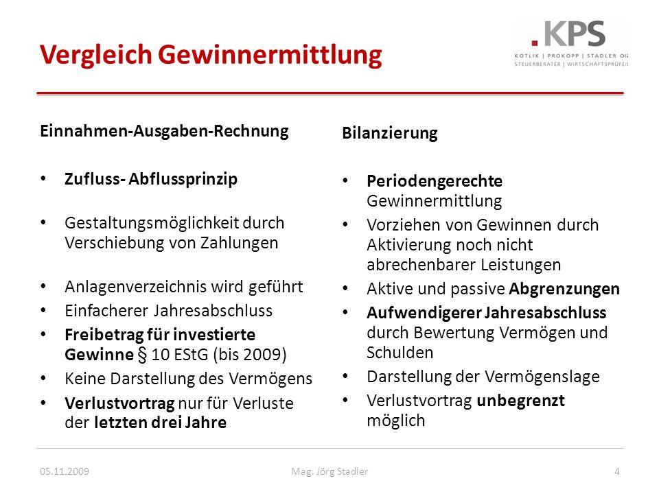 Rechnungslegungspflicht § 189 UGB Rechnungslegung = Führung einer doppelten Buchhaltung und Erstellung eines Jahresabschlusses mit Bilanz und Gewinn- und Verlustrechnung Gilt für folgende Unternehmer: – Alle Kapitalgesellschaften (GmbH, AG) – GmbH & Co.