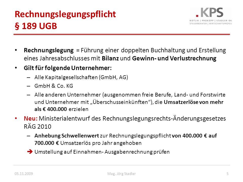 Betriebliche Altersvorsorge bei Gesellschafter-Geschäftsführern 05.11.200916Mag.