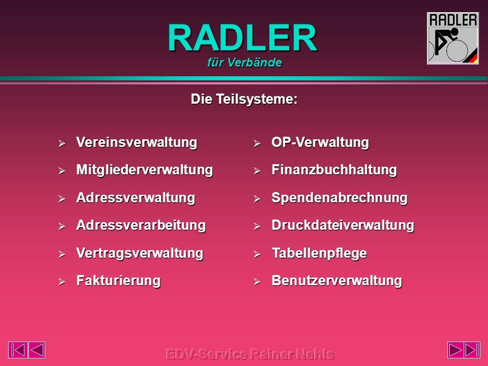 RADLER Die Berechtigungsprüfung: für Verbände
