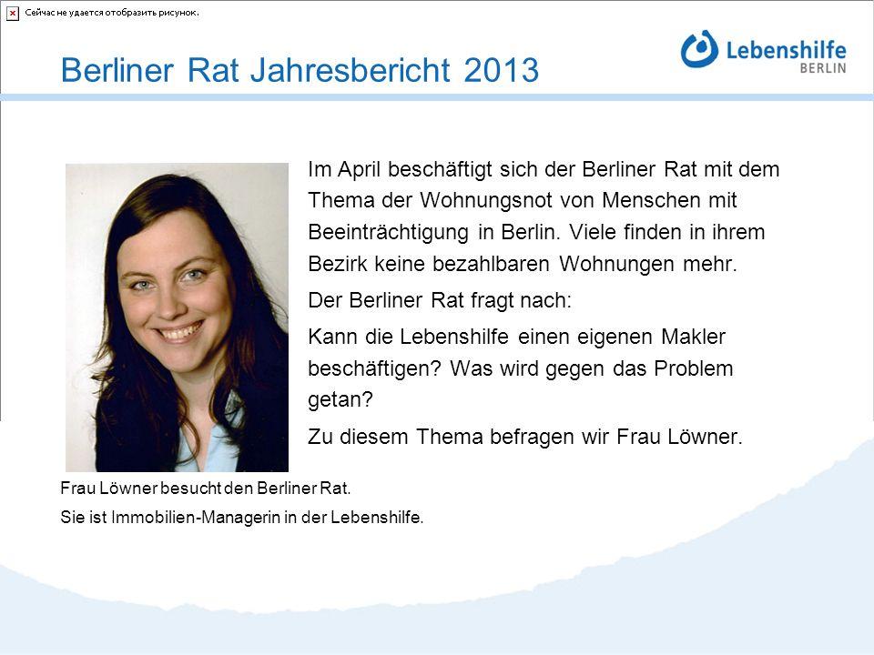 Im April beschäftigt sich der Berliner Rat mit dem Thema der Wohnungsnot von Menschen mit Beeinträchtigung in Berlin. Viele finden in ihrem Bezirk kei