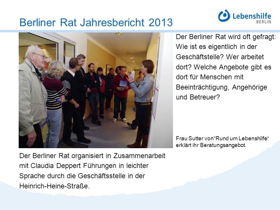 Der Berliner Rat wird oft gefragt: Wie ist es eigentlich in der Geschäftstelle? Wer arbeitet dort? Welche Angebote gibt es dort für Menschen mit Beein