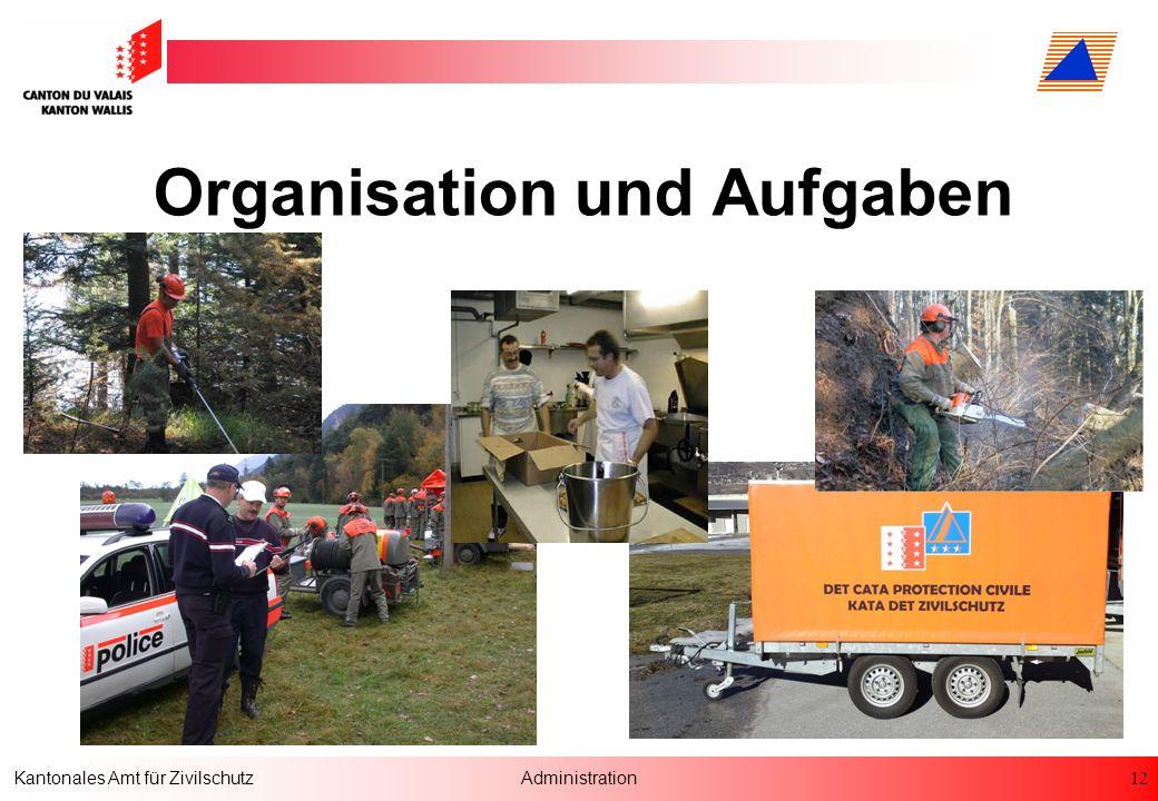 12 Kantonales Amt für ZivilschutzAdministration Organisation und Aufgaben