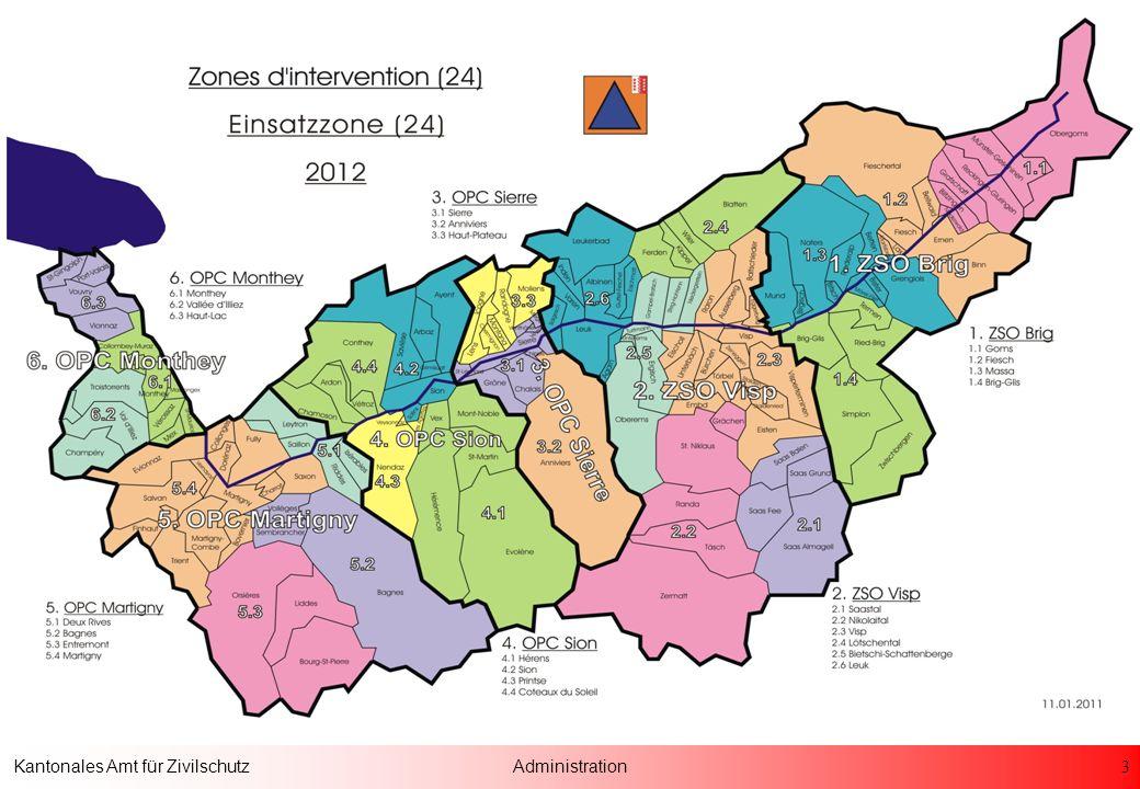 24 Kantonales Amt für ZivilschutzAdministration Das Zivilschutz Gesetz ist nur so gut, wie die Menschen, die dahinter stehen !