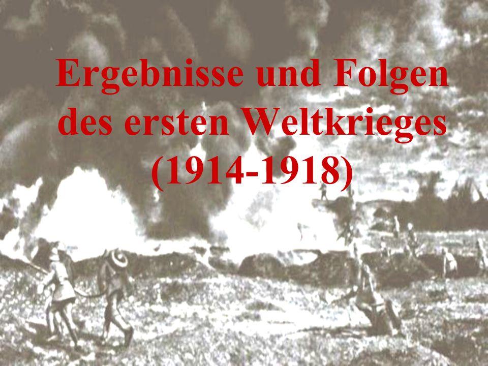Pariser Vorortsverträge 1)Friedensvertrag von Versailles (28.Juni 1919) der Kriegszustand zwischen dem Deutschen Reich und den Mächten der Triple Entente war damit beendet Im Artikel 231 heißt es: Die alliierten und assoziierten Regierungen erklären, und Deutschland erkennt an, daß Deutschland und seine Verbündeten als Urheber für alle Verluste und Schäden verantwortlich sind, die die alliierten und assoziierten Regierungen und ihre Staatsangehörigen infolge des Krieges, der ihnen durch den Angriff Deutschlands und seiner Verbündeten aufgezwungen wurde, erlitten haben.