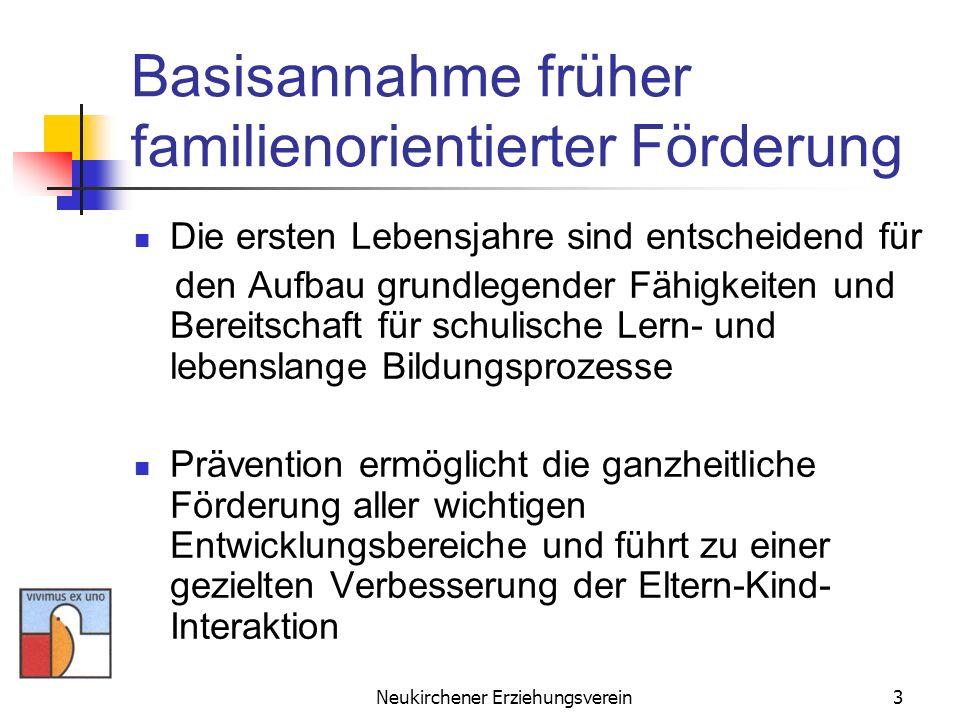 Neukirchener Erziehungsverein3 Basisannahme früher familienorientierter Förderung Die ersten Lebensjahre sind entscheidend für den Aufbau grundlegende