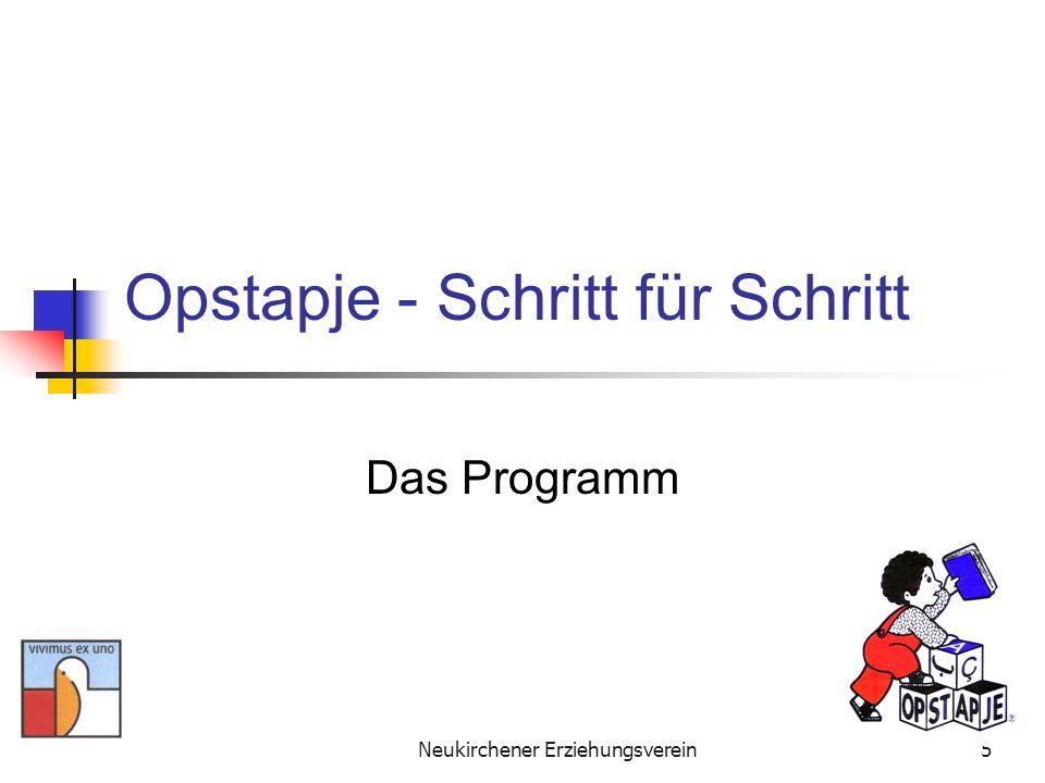 Neukirchener Erziehungsverein16 Opstapje Schritt für Schritt Finanzierungsstruktur