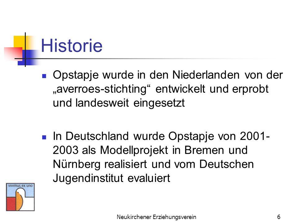 Neukirchener Erziehungsverein6 Historie Opstapje wurde in den Niederlanden von der averroes-stichting entwickelt und erprobt und landesweit eingesetzt