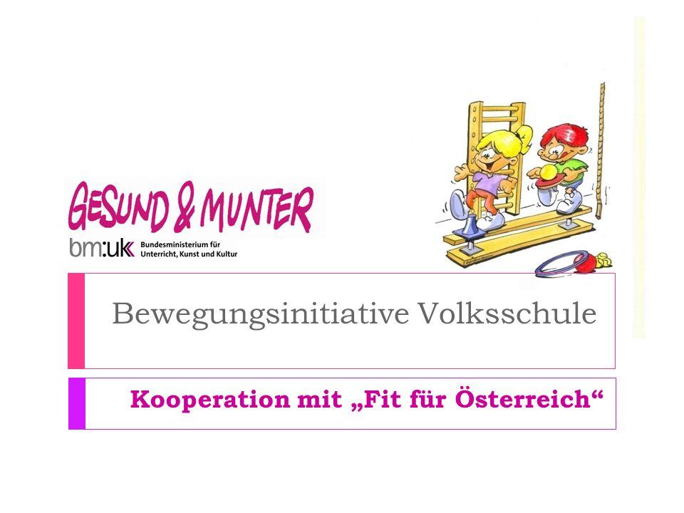 Bewegungsinitiative Volksschule Kooperation mit Fit für Österreich