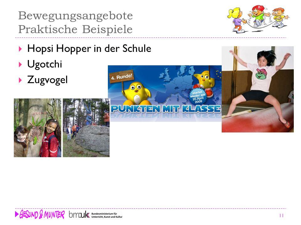 11 Bewegungsangebote Praktische Beispiele Hopsi Hopper in der Schule Ugotchi Zugvogel