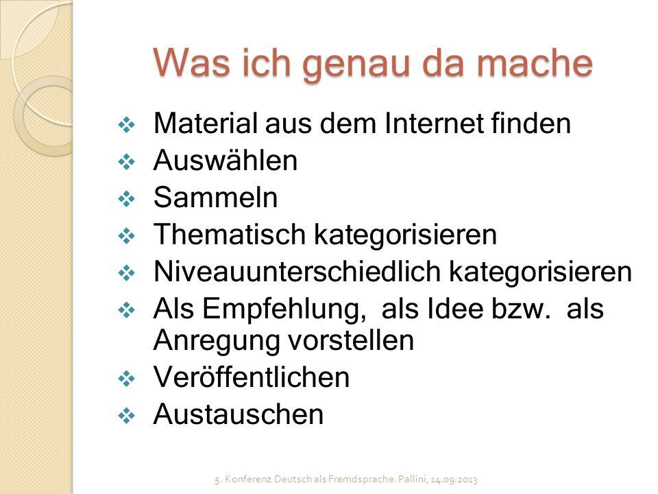 DAF-IDEEN 2. Präsentation 5. Konferenz Deutsch als Fremdsprache. Pallini, 14.09.2013