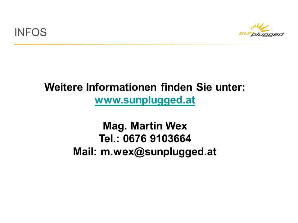 INFOS Weitere Informationen finden Sie unter: www.sunplugged.at Mag.