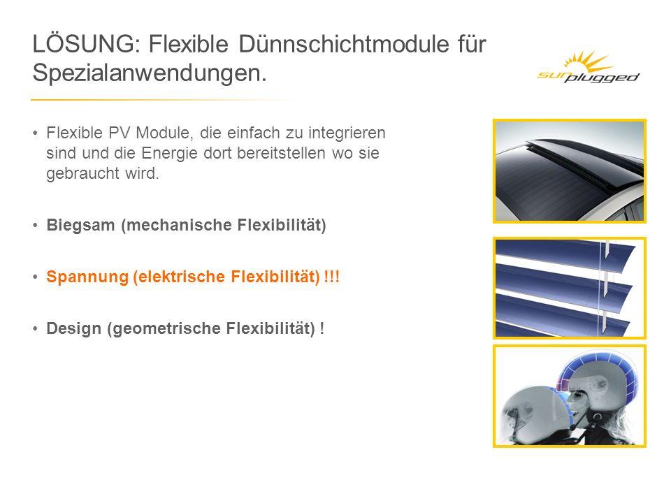 LÖSUNG: Flexible Dünnschichtmodule für Spezialanwendungen.