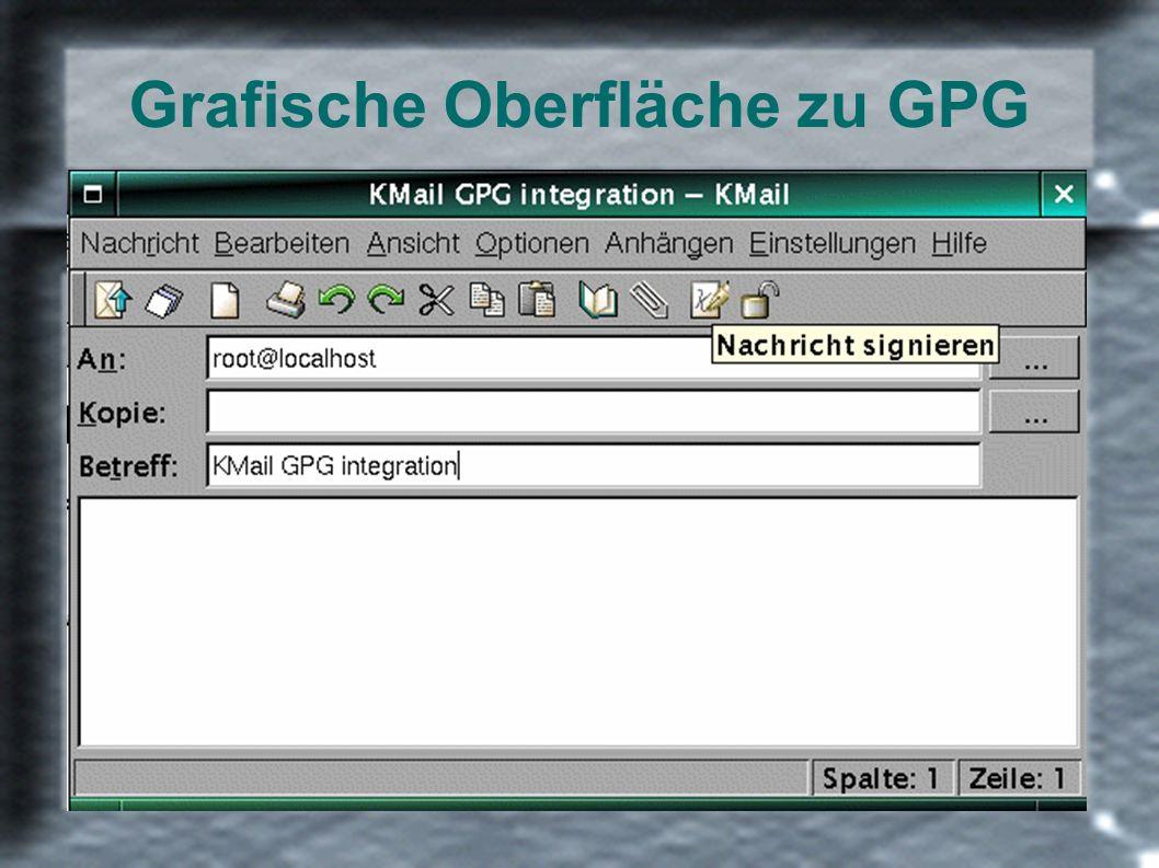 Grafische Oberfläche zu GPG