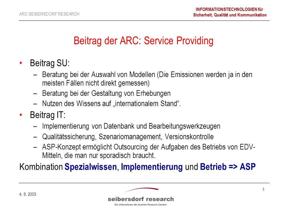 3 ARC SEIBERSDORF RESEARCH INFORMATIONSTECHNOLOGIEN für Sicherheit, Qualität und Kommunikation 4.