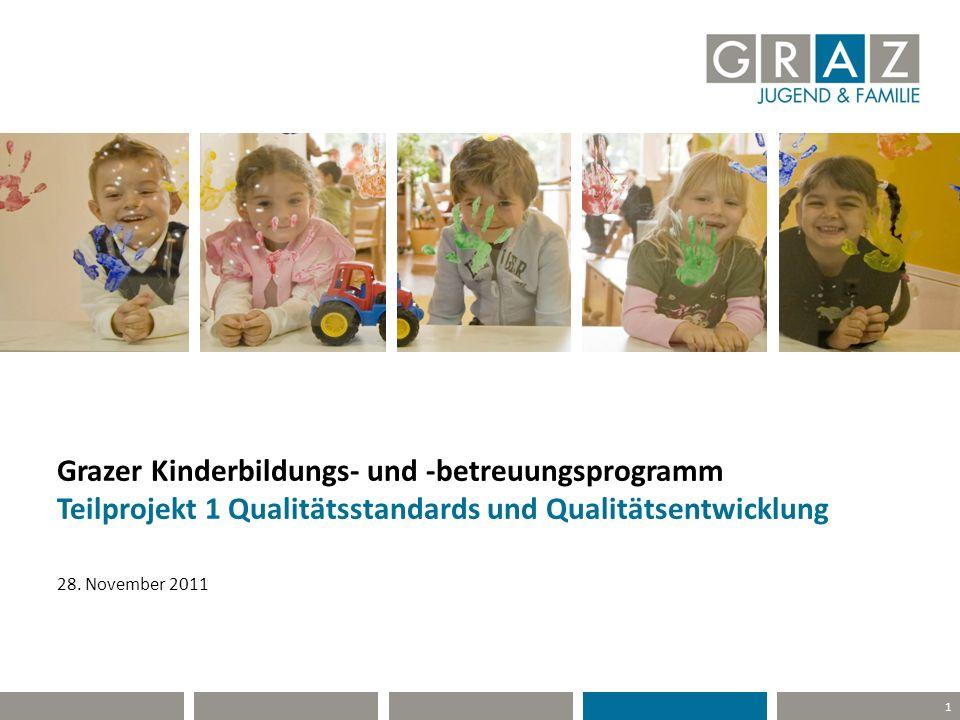 1 Grazer Kinderbildungs- und -betreuungsprogramm Teilprojekt 1 Qualitätsstandards und Qualitätsentwicklung 28. November 2011
