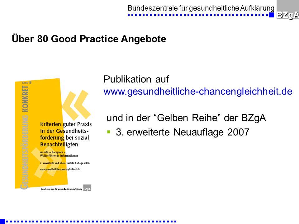 Bundeszentrale für gesundheitliche AufklärungBZgA und in der Gelben Reihe der BZgA 3.