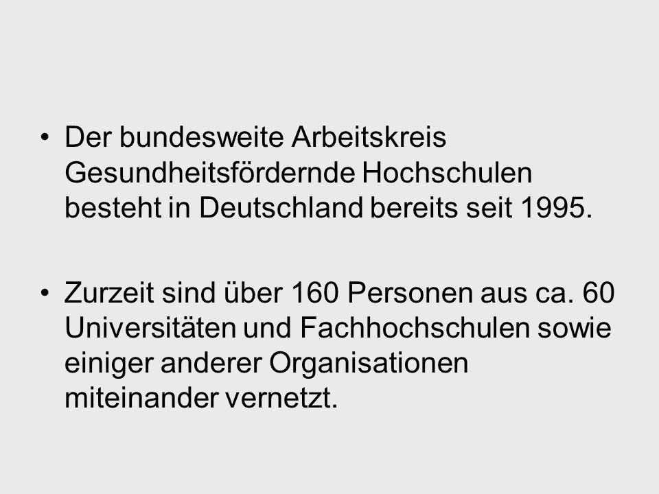 Gütekriterien Gesundheitsfördernder Hochschulen 2.