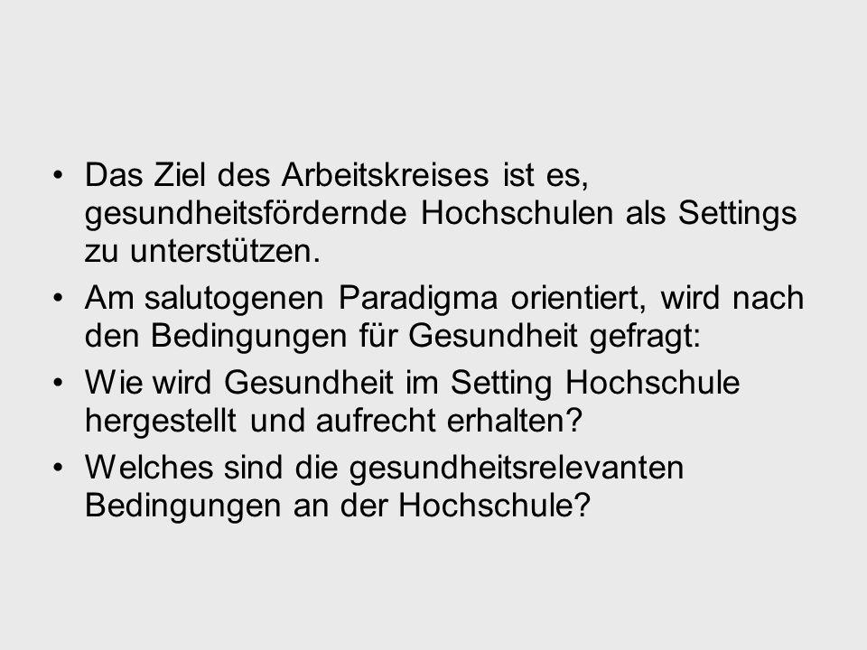 Gütekriterien Gesundheitsfördernder Hochschulen 5.