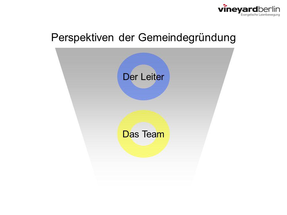 Perspektiven der Gemeindegründung Der Leiter Das Team