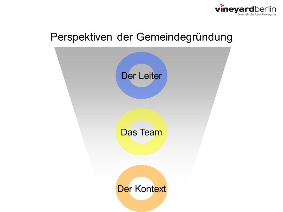 Perspektiven der Gemeindegründung Der Leiter Das Team Der Kontext