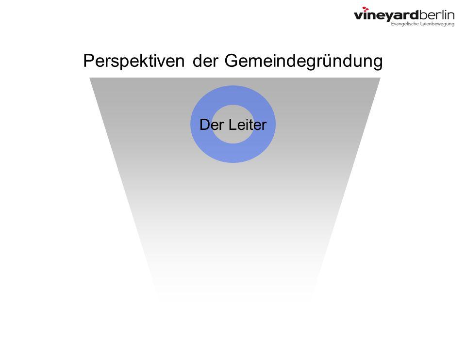 Perspektiven der Gemeindegründung Der Leiter