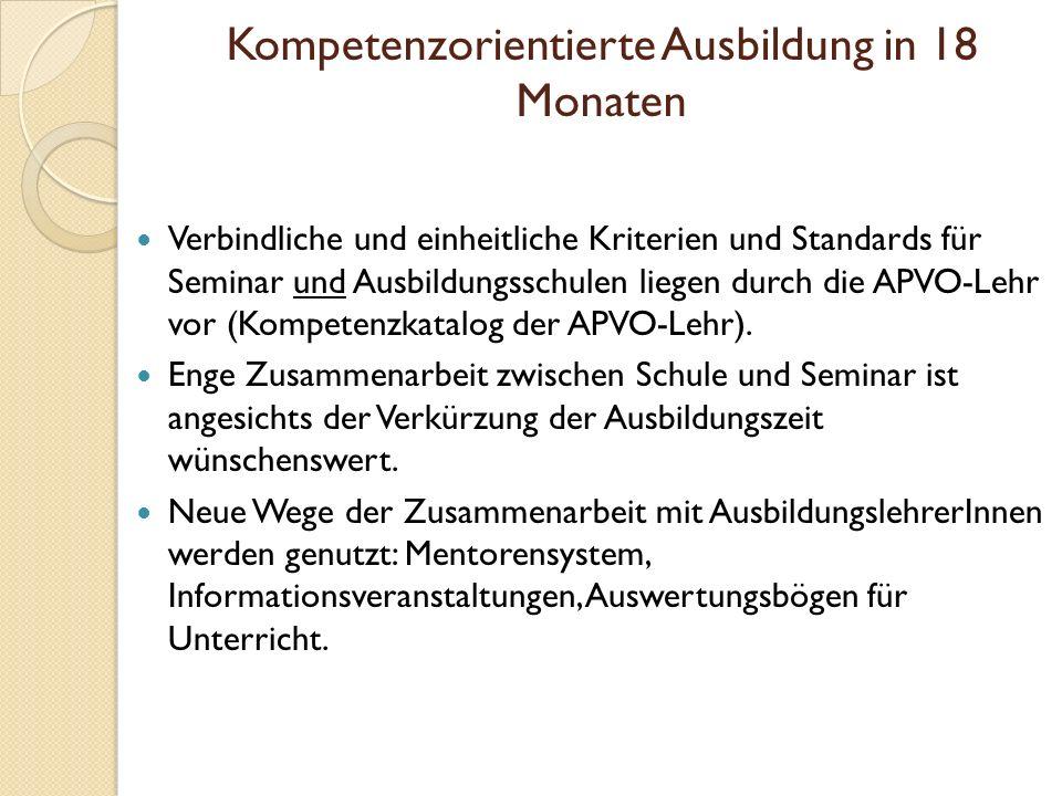 Generelle Absprachen /Regelungen der Zusammenarbeit mit dem Seminar: Seminarveranstaltungen haben Vorrang vor schulischen Veranstaltungen (z.B.