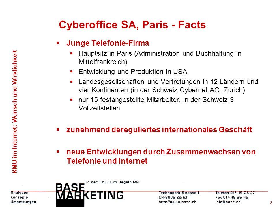 KMU im Internet: Wunsch und Wirklichkeit 2 BASE-Marketing, Zürich - Facts Gegründet am 1.