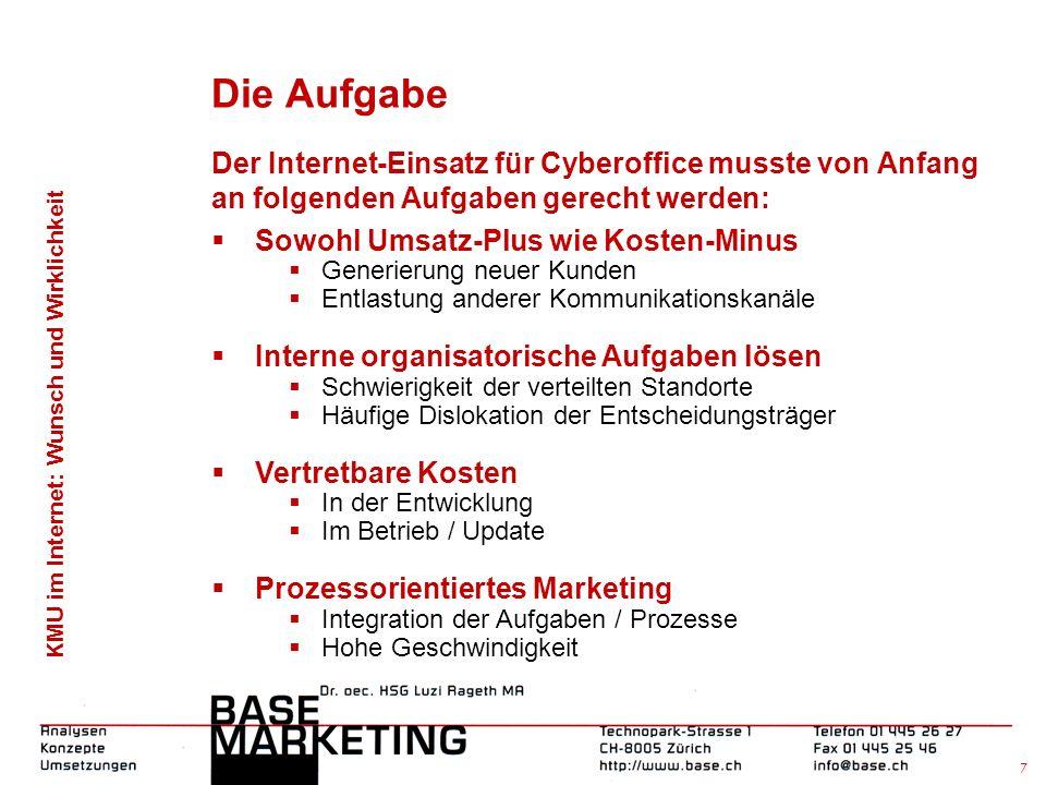 KMU im Internet: Wunsch und Wirklichkeit 6 Cyberoffice SA, Paris - Easy Call Center