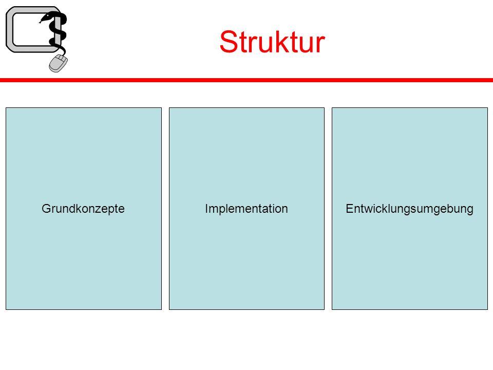 Struktur GrundkonzepteEntwicklungsumgebungImplementation