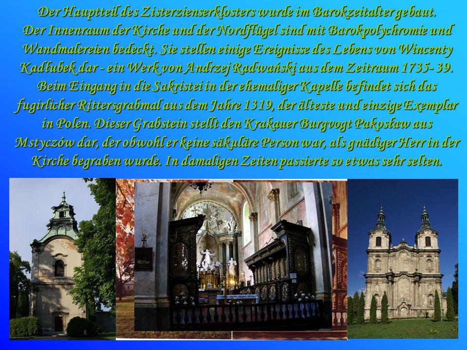 Der Hauptteil des Zisterzienserklosters wurde im Barokzeitalter gebaut. Der Innenraum der Kirche und der Nordflügel sind mit Barokpolychromie und Wand