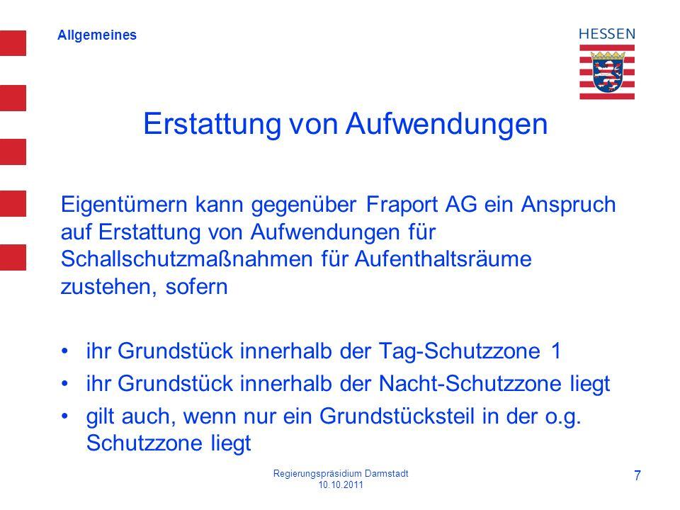 Allgemeines Erstattung von Aufwendungen Eigentümern kann gegenüber Fraport AG ein Anspruch auf Erstattung von Aufwendungen für Schallschutzmaßnahmen f