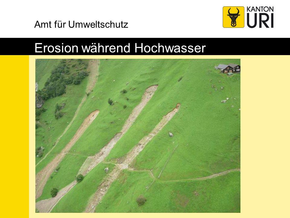 Amt für Umweltschutz Erosion während Hochwasser