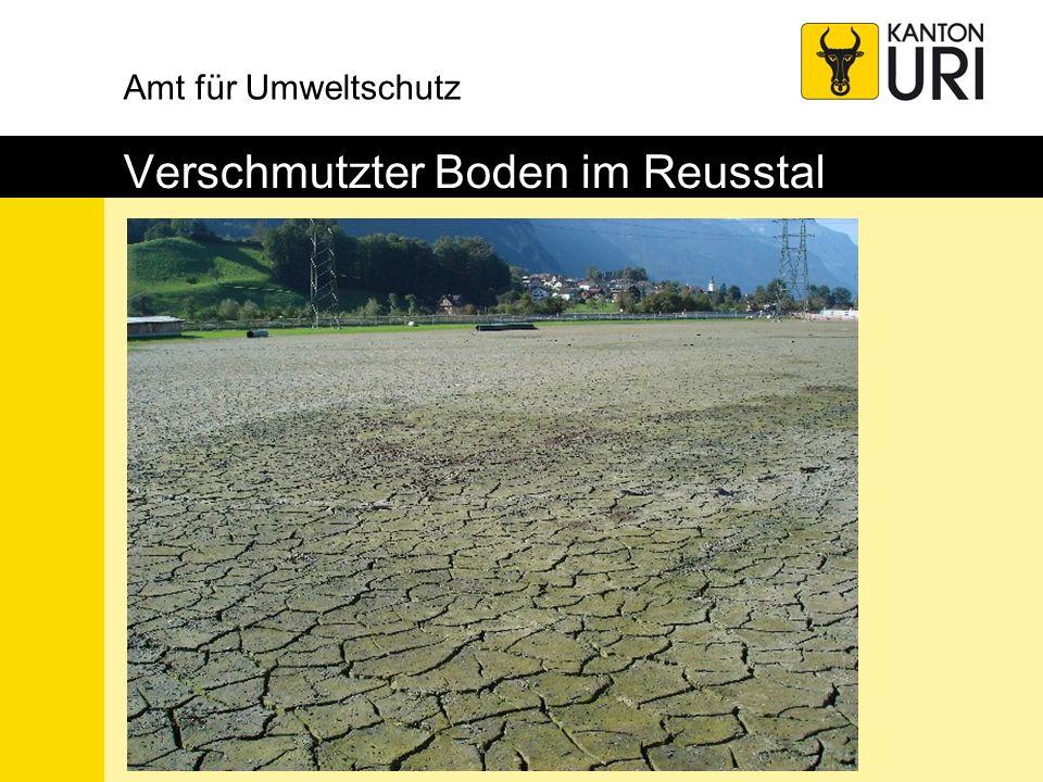 Amt für Umweltschutz Verschmutzter Boden im Reusstal