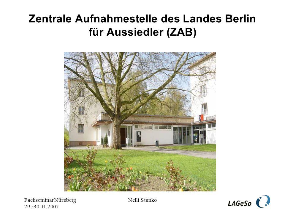 Fachseminar Nürnberg 29.-30.11.2007 Nelli Stanko Gestern Lehrer – heute arbeitslos – morgen??.