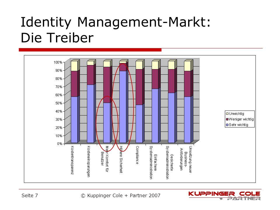 © Kuppinger Cole + Partner 2007Seite 7 Identity Management-Markt: Die Treiber