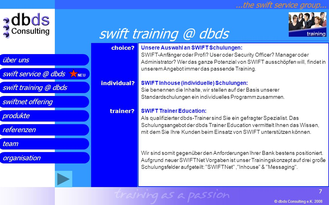 ...the swift service group...