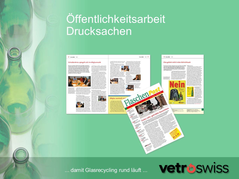 ...damit Glasrecycling rund läuft... Infokampagne 2013 Kein Glas im Kehrichtsack.
