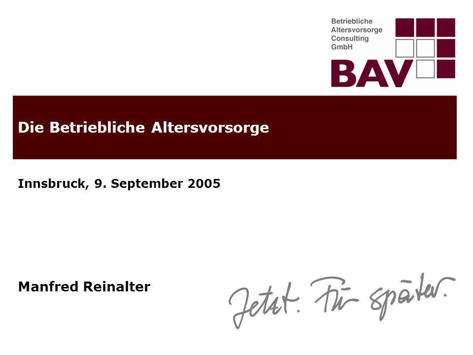 22.02.2014 © 2005 Betriebliche Altersvorsorge Consulting GmbH2 Steckbrief der Betrieblichen Altersvorsorge Consulting GmbH Gegründet: im Jahr 2004 Unternehmenssitz: Innsbruck, Anichstr.
