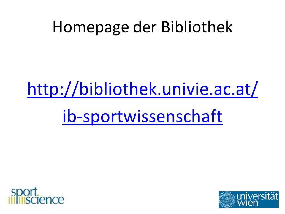 Varianten Variante 1: Suche nach Literatur des Zentrums für Sportwissenschaft Variante 2: Suche nach Literatur der gesamten Universität Wien Variante 3: Suche nach Literatur, die nicht an der UB Wien verfügbar ist
