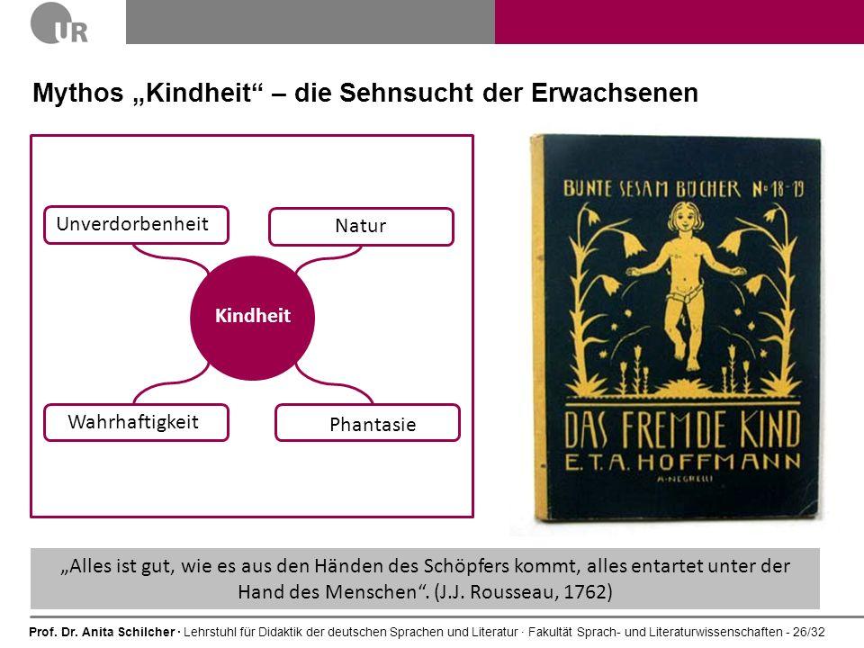 Prof. Dr. Anita Schilcher · Lehrstuhl für Didaktik der deutschen Sprachen und Literatur · Fakultät Sprach- und Literaturwissenschaften - 26/32 Natur M