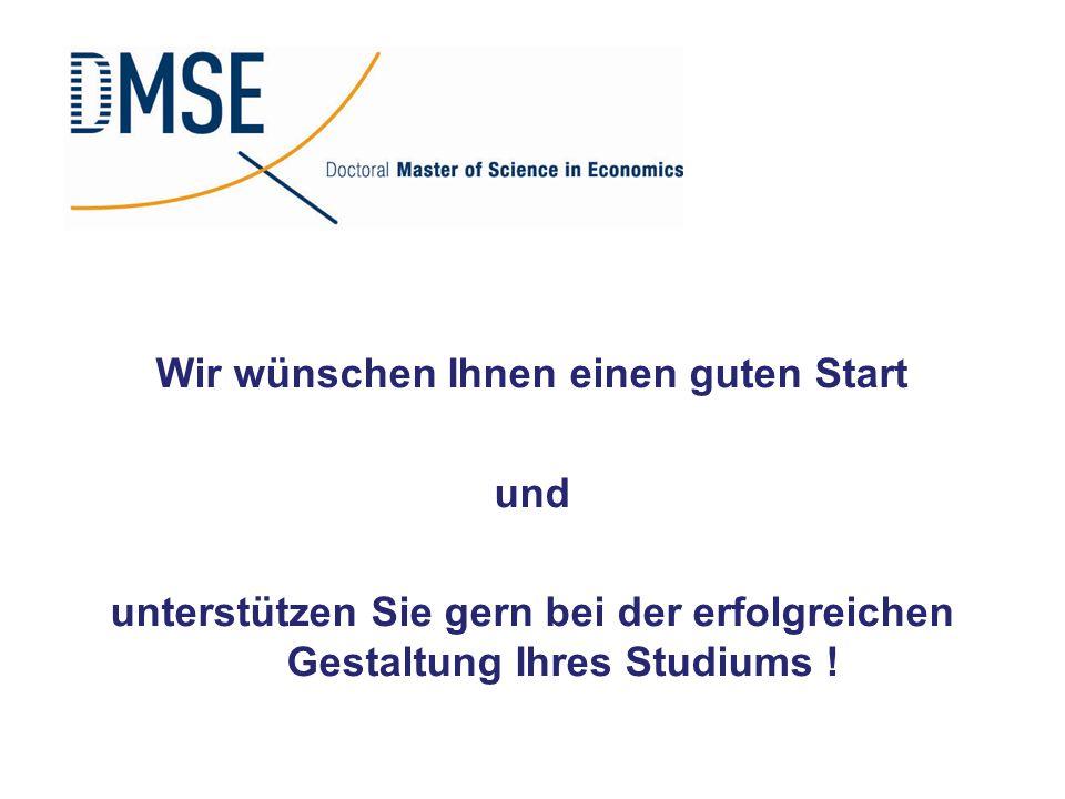 Wir wünschen Ihnen einen guten Start und unterstützen Sie gern bei der erfolgreichen Gestaltung Ihres Studiums !