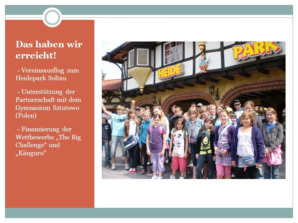 Das haben wir erreicht! - Unterstützung der Schülerzeitung Gingster Welle und des Rügenführers für Kinder - Herausgabe eines eigenen Flyers und Veröff