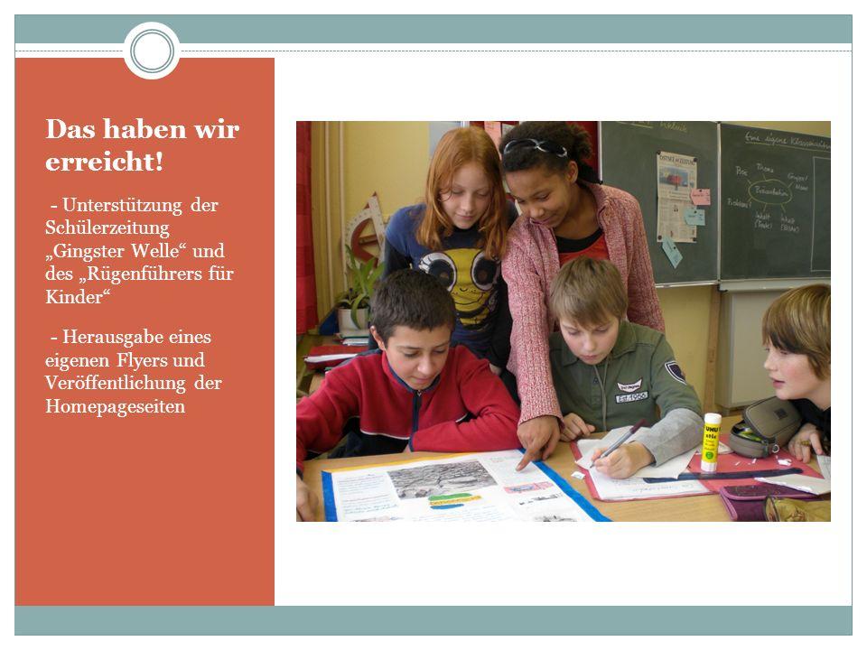 Aufgaben des Vereins (II) Förderung des Übergangs der Schüler in die berufliche Praxis Unterstützung bei der Durchführung internationaler Schülerbegeg