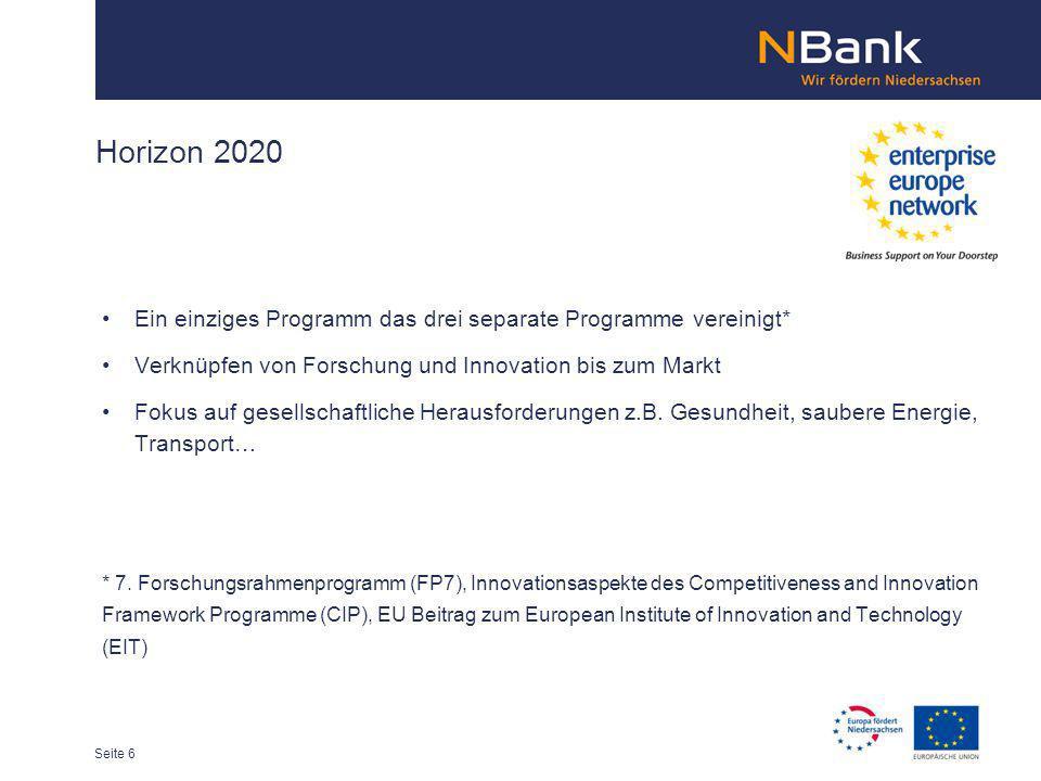 Horizon 2020 Ein einziges Programm das drei separate Programme vereinigt* Verknüpfen von Forschung und Innovation bis zum Markt Fokus auf gesellschaft